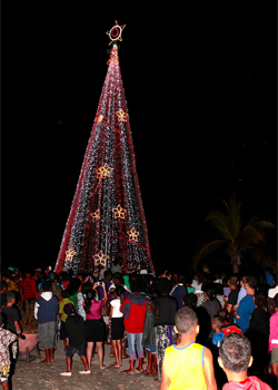 Hundreds Of People Turned Out Last Night At My Suva Park To Witness The  Lighting Of The Vodafone Christmas Tree.